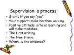 supervision a process