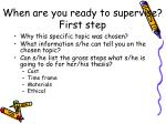 when are you ready to supervise first step