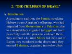 2 the children of israel