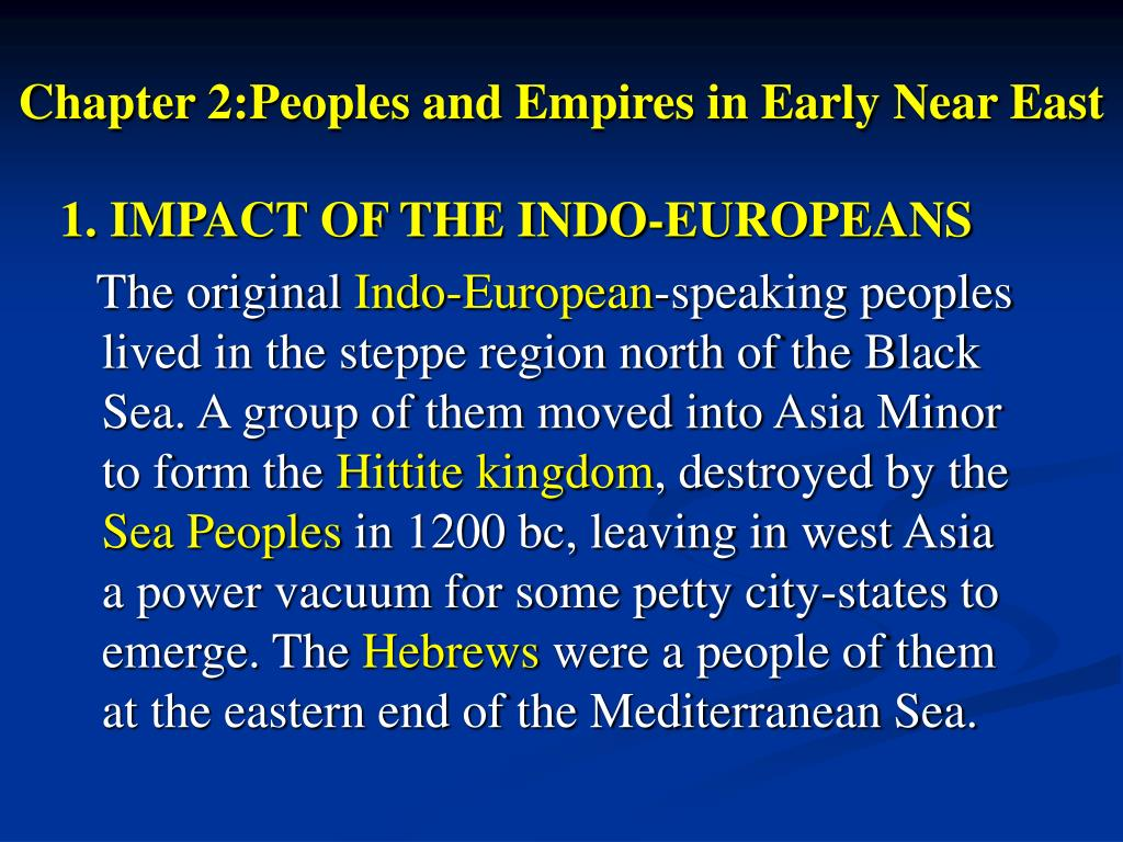 chapter 2 peoples and empires in early near east l.