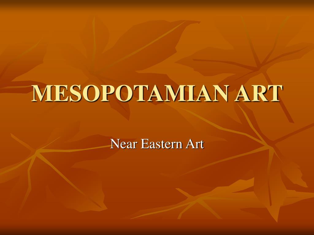 mesopotamian art l.