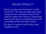 dewey panic14