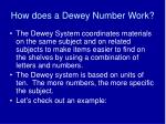 how does a dewey number work