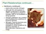 plant relationships continued36