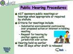 public hearing procedures