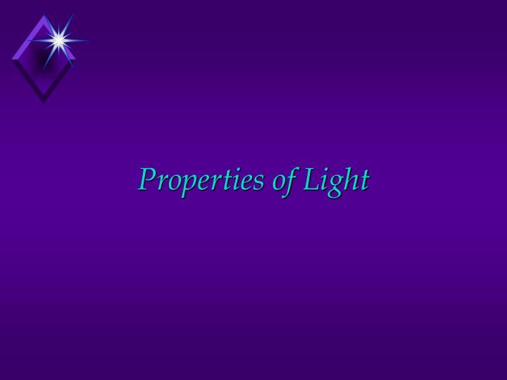 properties of light n.