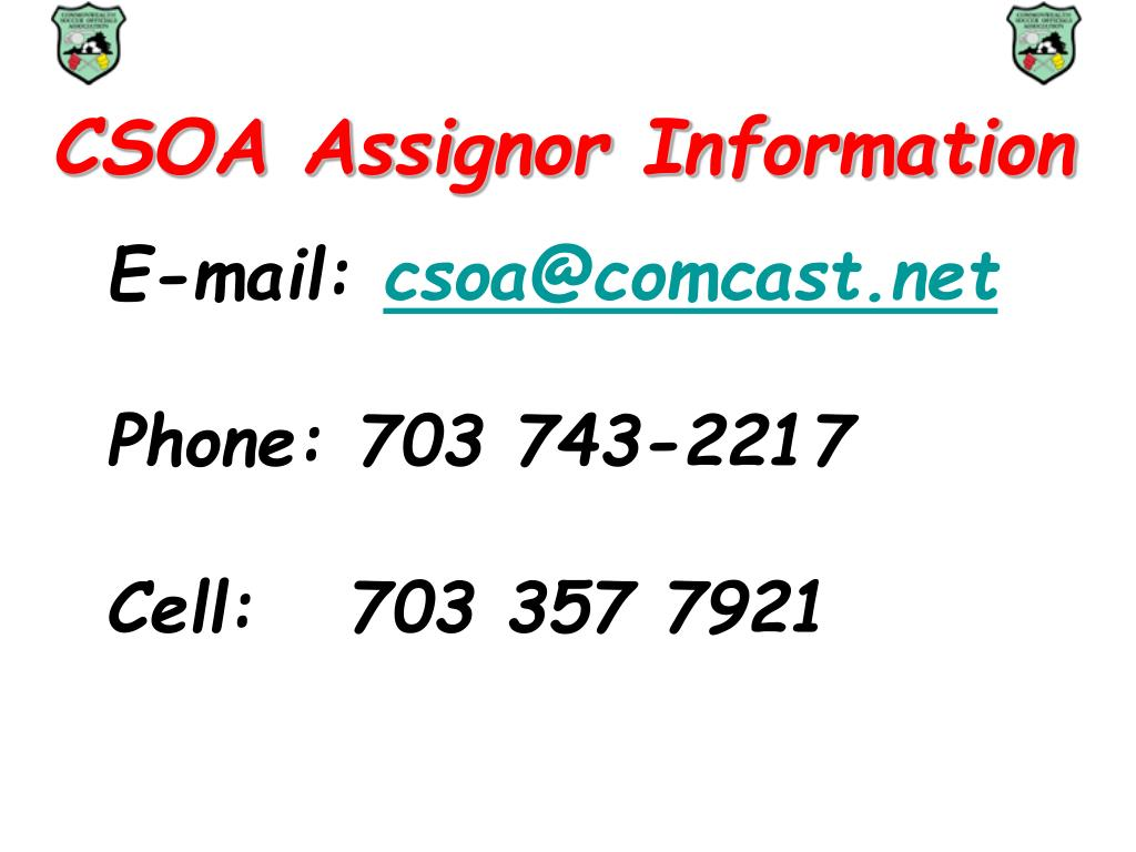 csoa assignor information l.