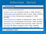 collections details