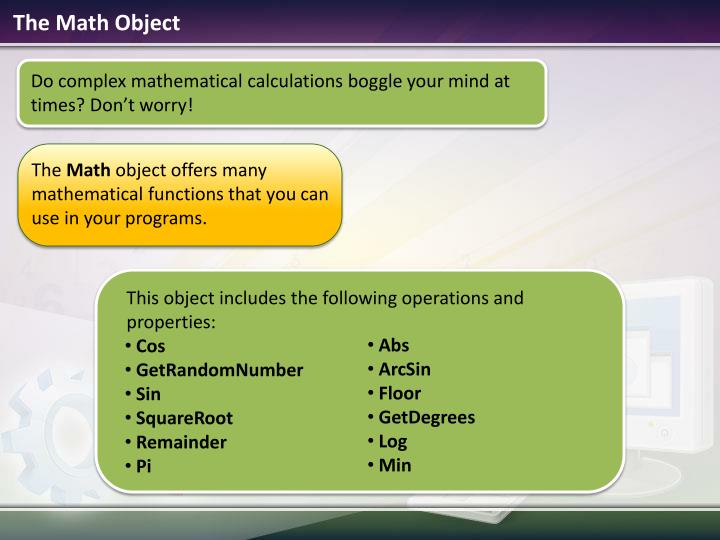 The math object