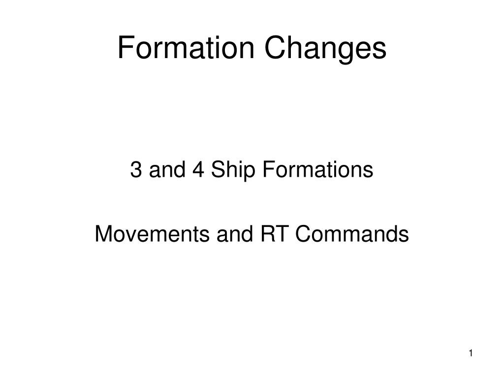 formation changes l.