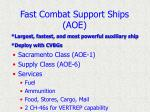 fast combat support ships aoe