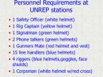 personnel requirements at unrep stations