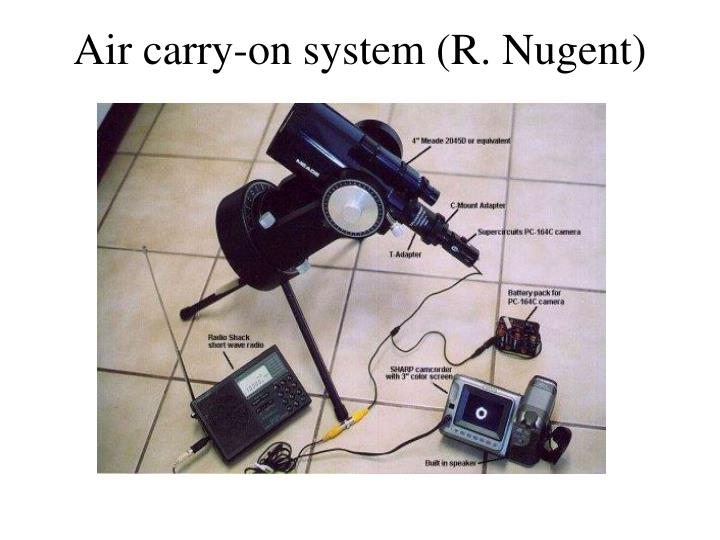 Air carry-on system (R. Nugent)