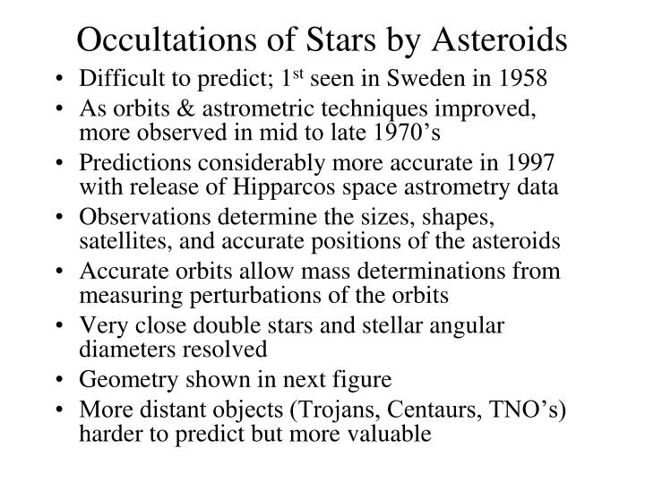 Occultations of Stars by Asteroids