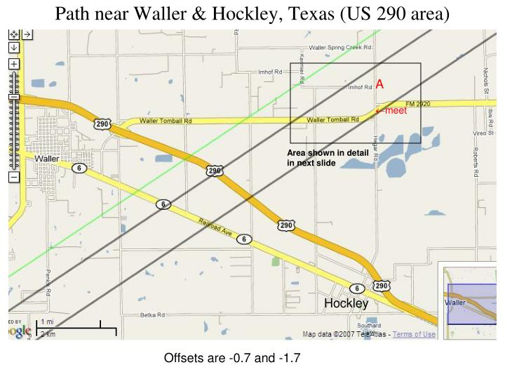 Path near Waller & Hockley, Texas (US 290 area)