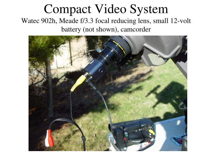 Compact Video System
