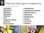 there are many types of engineering