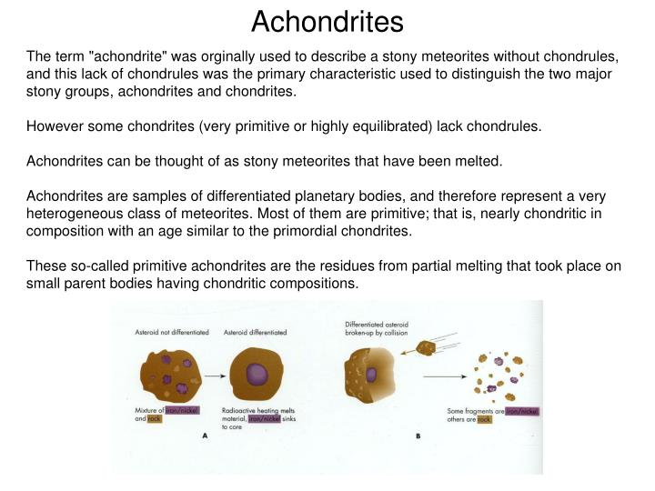 Achondrites