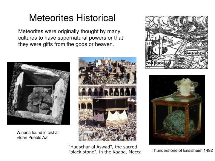 Meteorites Historical