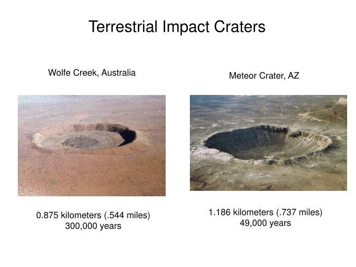 Terrestrial Impact Craters