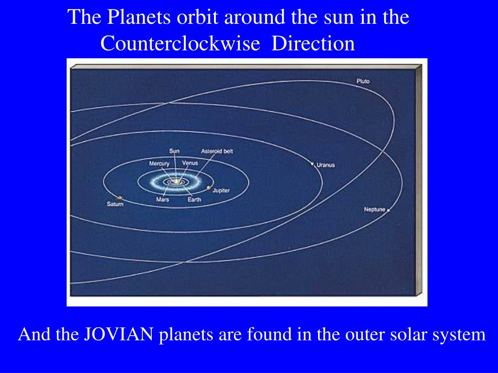 The Planets orbit around the sun in the