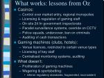 what works lessons from oz