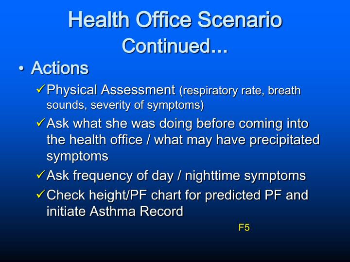 Health Office Scenario