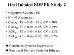 oral inhaled bdp pk study 2