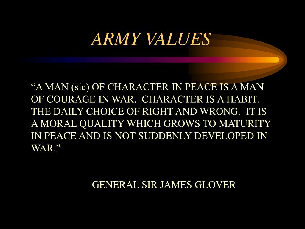 army values l.