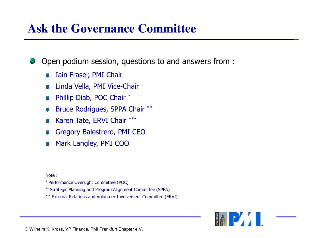 Ask the Governance Committee