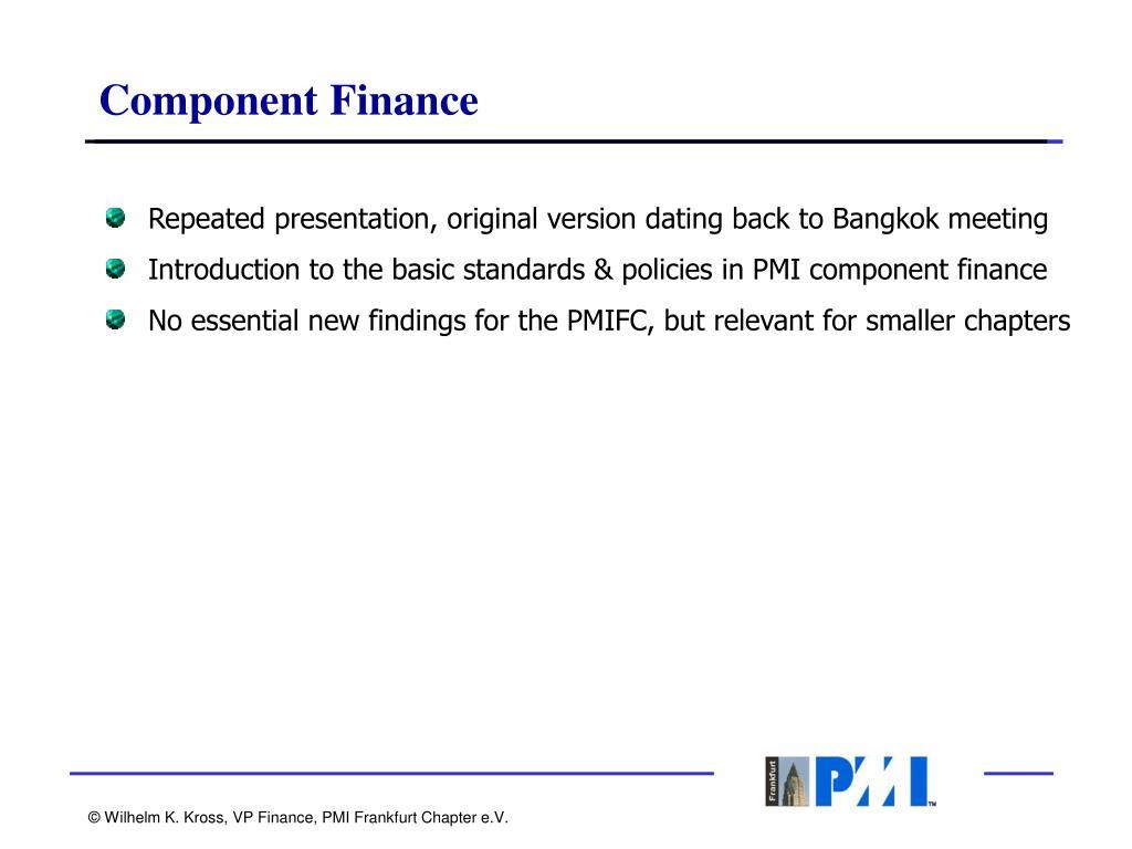 Component Finance
