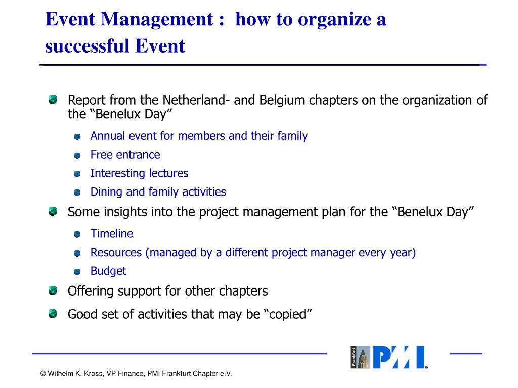 Event Management :  how to organize a successful Event