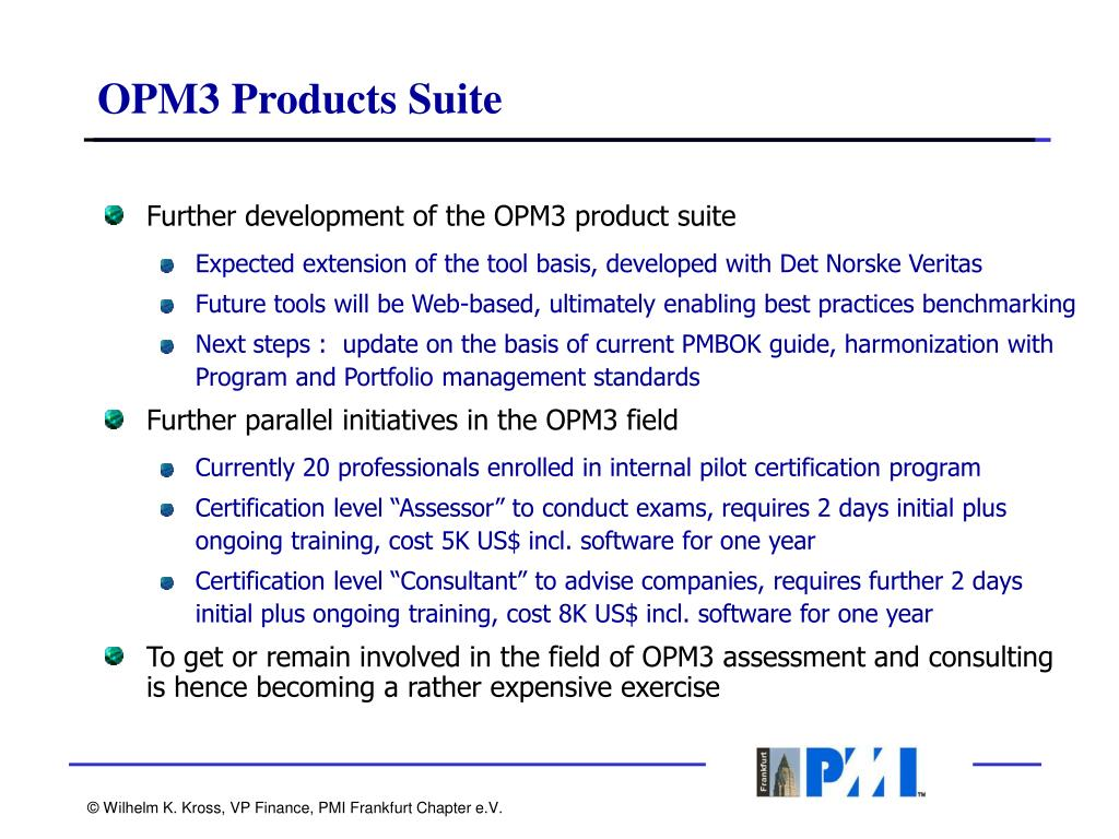 OPM3 Products Suite