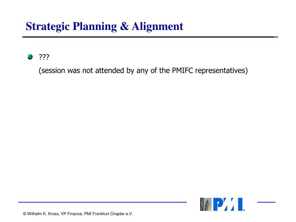 Strategic Planning & Alignment