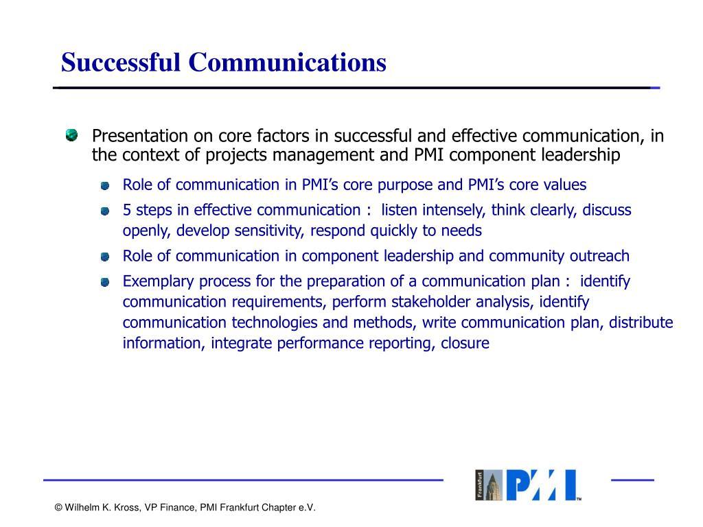 Successful Communications