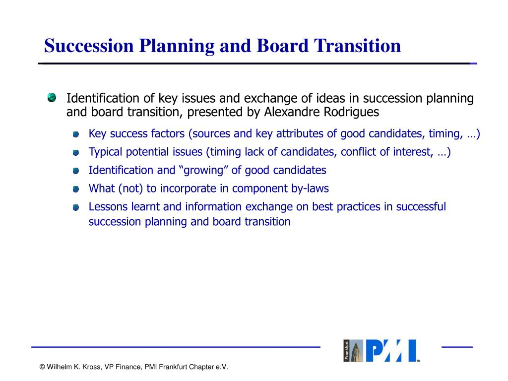 Succession Planning and Board Transition
