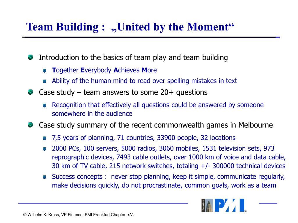 """Team Building :  """"United by the Moment"""""""