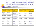 unfortunately the past participles of irregular verbs are as unpredictable as the past tense is