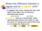what s the difference between a regular and an irregular verb