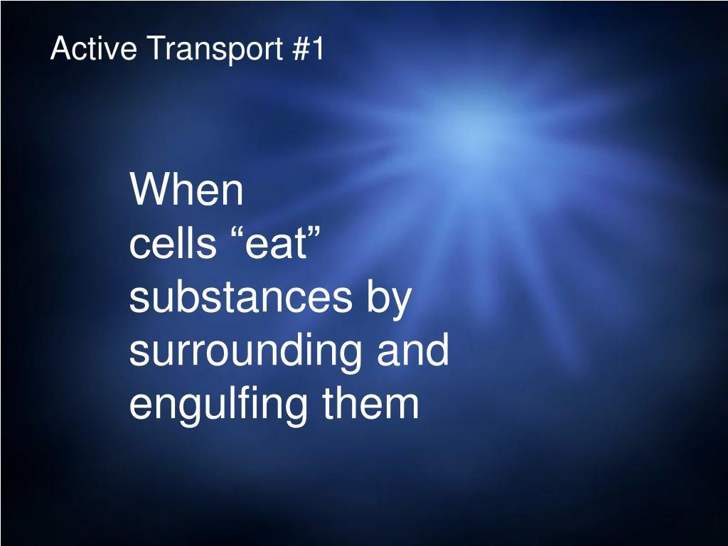 Active Transport #1