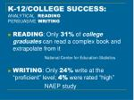 k 12 college success analytical reading persuasive writing36