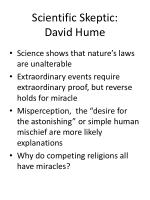 scientific skeptic david hume