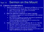 topic 12 sermon on the mount
