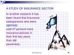 a study of insurance sector