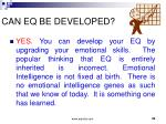 can eq be developed