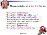 characteristics of a low eq person