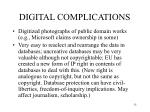 digital complications
