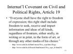 internat l covenant on civil and political rights article 19