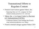 transnational efforts to regulate content