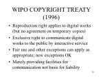 wipo copyright treaty 1996